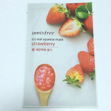 Real Strawberry Squeeze Mask Sheet Keeping Moisturized and Clean 20ml