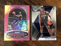 2019-20 Panini Mosaic + Marquee Pink Zion Williamson RC Rookie Lot 📈💥