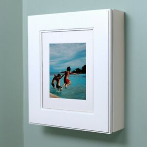 Wall-Mount Picture Frame Medicine Cabinet, NO MIRROR, available in 10 finishes!