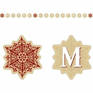 MERRY CHRISTMAS SNOWFLAKE MDF CARD HOLDER HANGING BANNER PARTY WALL DECORATION