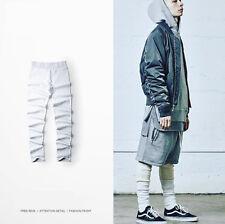 High Street Men Cotton Solid Skinny Leggings Hip Hop Dance Pants Causal Sport