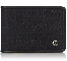 80b2706bc09b LEE Men's Canvas and Leather Trim Slimfold RFID Blocking Wallet with Money  Clip