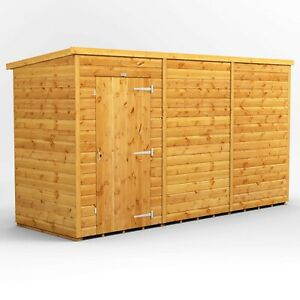 12x4 Power Pent Windowless Shed with Shelving l B GRADE SHED - AVAILABLE NOW