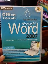 Office Tutorials - Learn To Use Microsoft WORD  2007 - PC CD ROM- FREE POST *