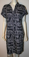 BROOKS BROTHER Navy Blue White SAILBOAT Nautical Boat Cotton Belted Dress NWT 14