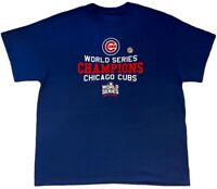 Chicago Cubs Mens Shirt XL 2016 World Series Champions Blue MLB Womens