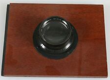 ANTIQUE LARGE FORMAT 5 X 7 BAUSCH LOMB TESSAR LENS ON 5 X 6.5 INCH BOARD.