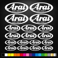 Compatible ARAI HELMET 18 Stickers Autocollants Adhésifs Moto Voiture Sponsor
