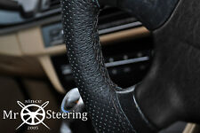 FOR 97+ JEEP WRANGLER II TJ PERFORATED LEATHER STEERING WHEEL COVER DOUBLE STCH