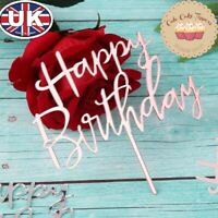 New Happy Birthday Acrylic Cake Topper for Birthday Party Cake Decoration