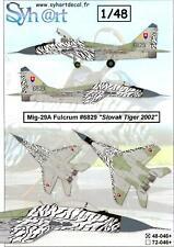 Syhart Decals 1/48 MIKOYAN MiG-29 FULCRUM Slovak Tiger Tigermeet 2002