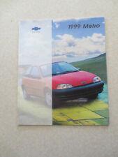 1999 Chevrolet Metro cars advertising booklet - Chev -