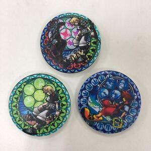 "3pcs/set Anime Kingdom Hearts badge Pin button Schlüsselanhänger 5.8CM (2.3"")"