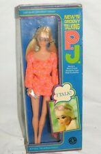 Vintage Mod Barbie's Best Friend 1969 New 'n Groovy Talking P.J. PJ Doll #1113