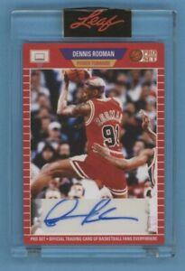 Dennis Rodman 2021 Leaf Pro Set Signatures 1989 RETRO AUTO Card CHICAGO BULLS