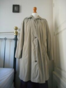 Mulberry Beige Coat Size Small Cotham Check Lining