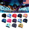 Unisex Nylon Cloth Comfy Soft Swimming Cap Pool Swim Hat Adult Hair Bathing Cap