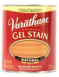 1 Can Varathane 32 Oz Premium Gel Stain 403 Natural No Drip Run Or Sag