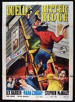 Werbeplakat Duell A Bitter Ridge Lex Barker Mara Corday Arnold Trevor Barde M285