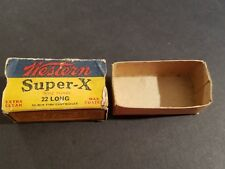 Western Super X Box - 22 Long Rifle Shot - Empty - Vintage - Winchester Olin