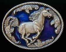 WESTERN STYLE RUNNING HORSE BELT BUCKLE BUCKLES NEW!