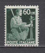 ITALIA 1945 Democratica 60 centesimi verde nuovo **