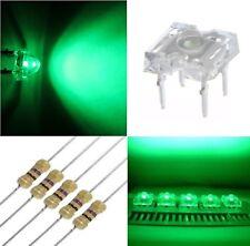 50 diodi led PIRANHA SUPERFLUX 3 mm VERDE + 50 resistenze 1/4 W 470 OHM