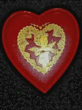 Vintage Valentine's Heart Shaped Embossed Chocolate Box