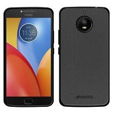 AMZER Pudding Matte TPU Case Skin Back Cover For Motorola Moto E4+ Plus - Black