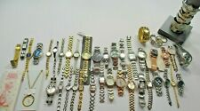 47 Piece Watch Lot Fossil and Designer Names Need Batteries, Repair Mens Womens