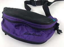 112c80834048 Vintage Eddie Bauer Fanny Pack Purple And Teal Nice Retro 80's Travel Cool
