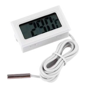 Digital LCD Thermometer Refrigerator Aquarium Water Temperature Meter with Probe