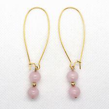 "Love Magnet Attractor Factor Rose Quartz Gemstone EARRINGS 2 3/4"" Long NEW!!"