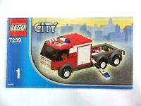 Notice LEGO CITY Manuels d'instructions montage réf : 7239