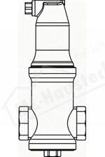 7891125 Pneumatex Zeparo Luftabscheider ZUV 25 Einbau waagerecht ohne Klemmring