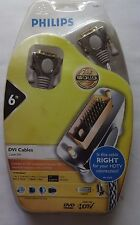 Philips DVI Cable 6 ft. HDTV  Home Theater 24K Gold NEW