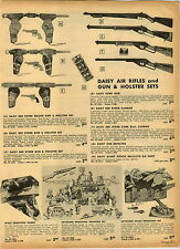 1955 PAPER AD Daisy Aiur Rifle Pump Red Ryder Carbine Cork Ball Holster Sets