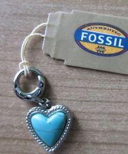 Fossil Jf88020 Damen Charms JF 88020 Stahl Türkis Herz Charm