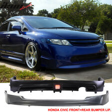 06-08 Honda Civic 4Dr Sedan Mugen Style Front + Rear Bumper Lip & Brake Lamp
