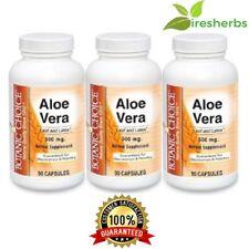 ALOE VERA 1500 MG Stomach & Liver Health immune HERBAL SUPPLEMENT 270 CAPSULES