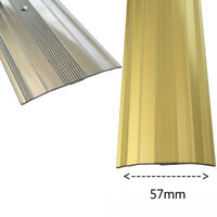 EXTRA WIDE COVER STRIP CARPET VINYL METAL DOOR BAR THRESHOLD TRIM BRASS & SILVER