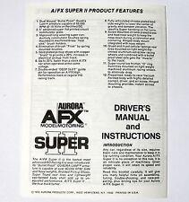 1972 Aurora HO Slot Car AFX Super II Original Instruction Pamphlet Flyer UNUSED