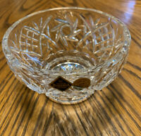 Bohemia Czech Glass Clear Candy Trinket Dish Crystal