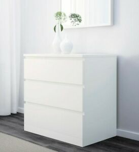 Ikea MALM Chest of 3 drawers, in great condition. White