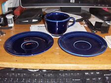 Fiesta Ware Cobalt Blue Cup And 2 Saucers