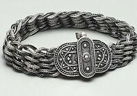 """Antikes Ketten Armband mit Stiftschließe um 1920 - 925 Silber """"Banu"""" punz. /A705"""