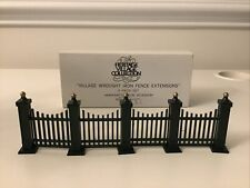 Dept 56 Heritage Village Wrought Iron Fence Extension 5515-8