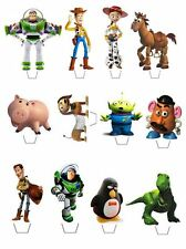 12 TOY STORY CHARACTERS EDIBLE CUPCAKE/FAIRY CAKE TOPPERS **STAND UPS**