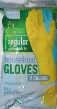 Smart Sense  Regular Household Latex Gloves LARGE 2 Pairs Yellow & Blue
