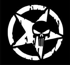 Punisher Car Window Laptop Wall Vinyl Graphic Decal Sticker Vw JDM Frank DUB